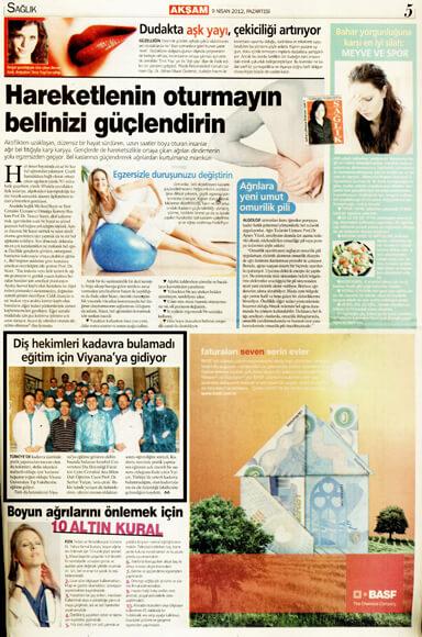 Dentram Akşam Gazetesi Haberi