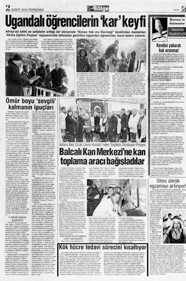 Dentram Bölge Gazetesi Haberi