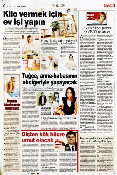 Dentram Vatan Gazetesi Haberi 2013