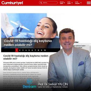 Prof. Dr. Serhat Yalçın Covid-19 İle İlgili Cumhuriyet'e Konuştu